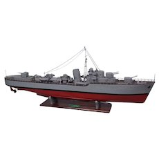 Pre-War c1930 Scratch Built Live Steam Powered Royal Navy Model HMS Lightning