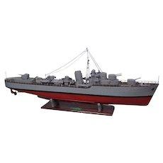 Pre-War c1930 Scratch Built Live Steam Powered Royal Navy Model HMS Lightning
