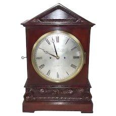 c1820 Regency Twin Fusee Mahogany Bracket Clock - James Murray, Royal Exchange London