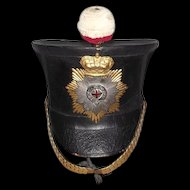 Early Victorian 1828 Pattern Officers Shako Of The Foot Guard Regiment