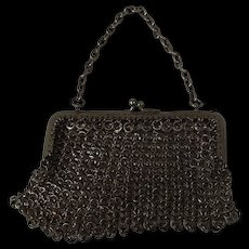 Vintage Circa 1920 Chain Mail Ladies Purse
