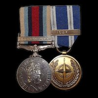 R.N. Afgan British Operational Service & NATO Service Medal