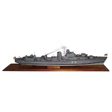 A Scale Model Of The Royal Navy Battle Class Destroyer HMS Cadiz