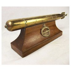 WW1 German Bronze Torpedo Trophy