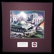 Airfix Original Artwork Cibachrome Print Of Russian Stalin Tank