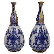 Circa 1910 Pair of Moorcroft Macintyre Aurelian Ware Gourd Vases