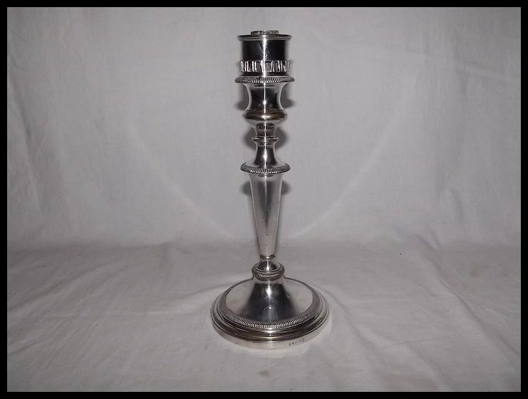 Circa 1850 u2013 1873 Silver Plated Candlestick By Hawksworth Eyre u0026 Co & Circa 1850 u2013 1873 Silver Plated Candlestick By Hawksworth Eyre u0026 Co ...