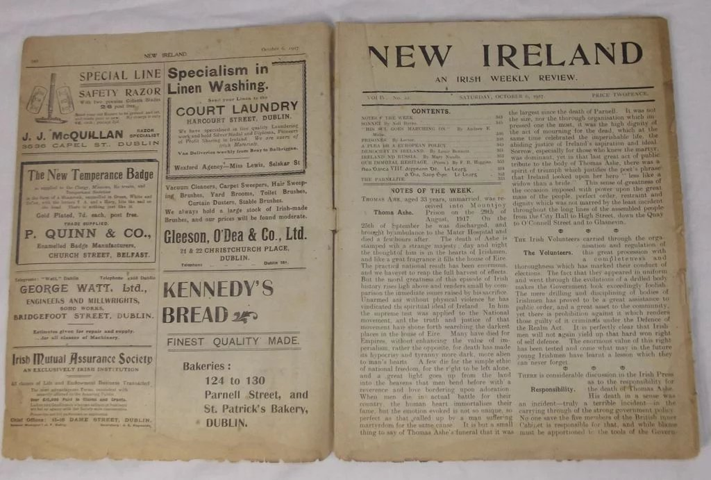 Ar n-Eire New Ireland Oct. 6, 1917 Irish Republican ...