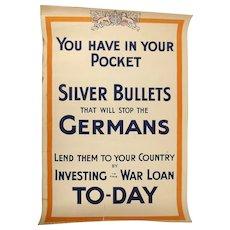 WW1 (1915)  War Savings Committee Propaganda Poster
