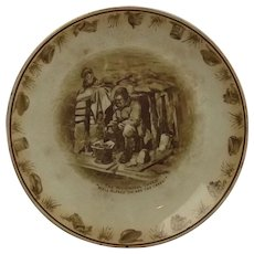 """Grimwades Bairnsfather Ware """"'Ow Are The Cakes?"""" 10 Inch Plate"""