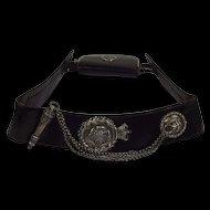 Silver Hallmarked North Yorkshire Light Infantry Militia Cross Belt
