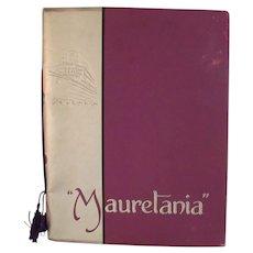 Launch Souvenier Brochure - RMS Mauretania (1938) - Cunard White Star