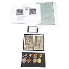 Excellent WW1 Military Medal Group F.J Beaumont RGA full details.