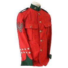 Scarce Post 1902 Colour Sergeants Tunic To The Brecknock Territorials