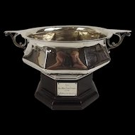 Edwardian Silver Rose Bowl And Stand From The Goriajan Polo Club London 1906