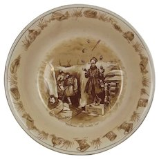 """WW1 Bruce Bairnsfather Ware """"Keeping His Hand In"""" Bowl By Grimwades"""