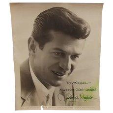 Signed Autograph Universal George Nader Studio Shot 1956