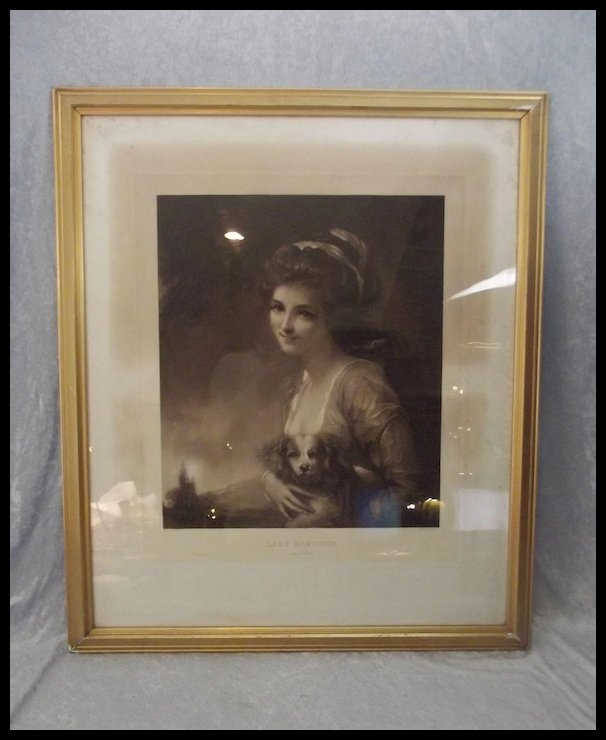 Framed Engraving Of Lady Hamilton As Nature Engraved By M. Cormack ...