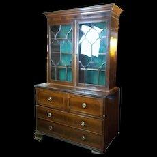 c1810 George III Secretaire Mahogany Bookcase