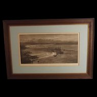 W.L. Wyllie Signed Lithographic Print - Battleships At Portsmouth Harbour