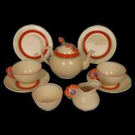 Clarice Cliff Bizarre Margeurite Pattern Tea For Two Set