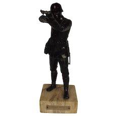 German Soldier 1936-7 Pre War Shooting Prize Spelter Trophy