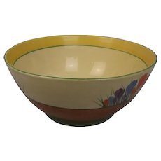 Clarice Cliff Crocus Pattern Fruit Bowl