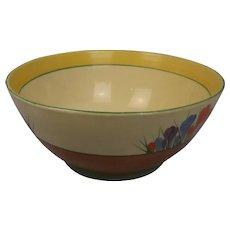 Clarice Cliff Crocus Pattern Fruit Bowl