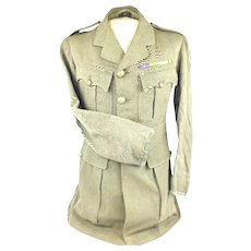 WW1 British 55th Division Royal Army Service Corps Officer's Cuff Rank Tunic