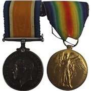 Royal Navy WW1 Medal Pair Able Seaman F.A. Felce