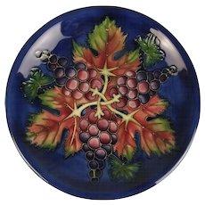 Selfridges Of London Moorcroft Grapes & Vine Pattern Charger