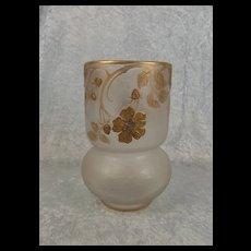 Circa 1900 Legras & Cie Mont Joye Cameo Glass Vase