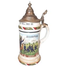 Imperial German Wurttemberg Regimental Commemorative Beer Stein