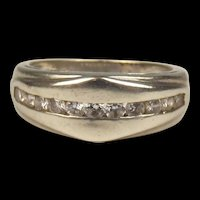 9ct White Gold Cubic Zirconia Ring UK Size L US 5 ¾