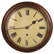 Circa 1900 Winterhalder And Hofmeier Oak Round Dial Wall Single Fusee Clock