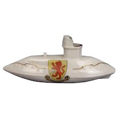 WW1 Shelley Crested China Model of a Submarine – Leominster