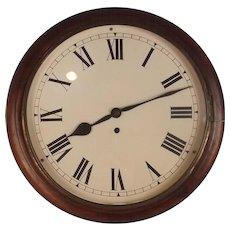 19th Century Mahogany Circular Fusee Wall Clock