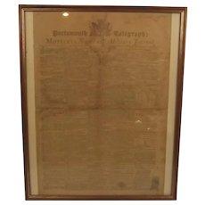 1799 Portsmouth Telegraph; Mottley's Naval & Military Journal Framed Original Newspaper Pages