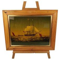 The Trafalgar (1848) – East Indiaman Vessel – Reverse Glass Print