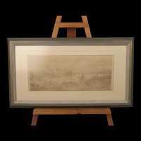 William Lionel Wyllie RA (1851-1931) Etching Of London In The Smog