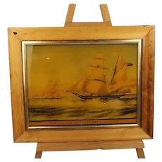 HM Brigantine Dolphin (1846) – 3 Gun Vessel – Reverse Glass Print