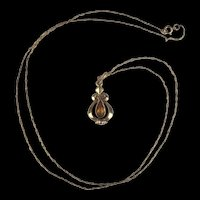9ct Yellow Gold Necklace With Citrine Pendant