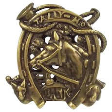 Circa 1920's Chamberlain & Hill Tally Ho Cast Brass Bank