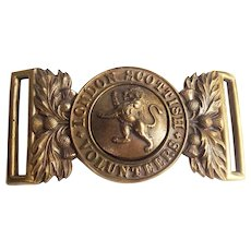 London Scottish Volunteers Belt Buckle