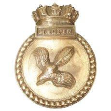 1943 Bronze Ships Bridge Badge Of HMS Magpie (U82) Prince Philip