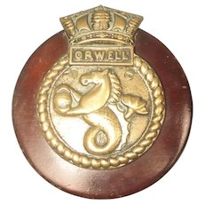 Bronze Boat Badge From HMS Orwell