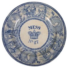 A Victorian Royal Naval Mess Plate Circa 1865 Number 27