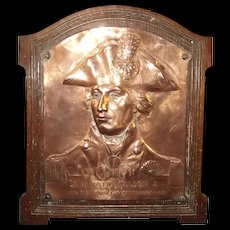 1905 Trafalgar Centenary Copper Commemorative Plaque