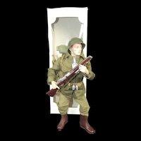 Vintage Original Palitoy Action Man Combat Soldier
