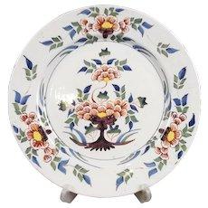 Circa 1760 Bristol Polychrome Delftware Plate